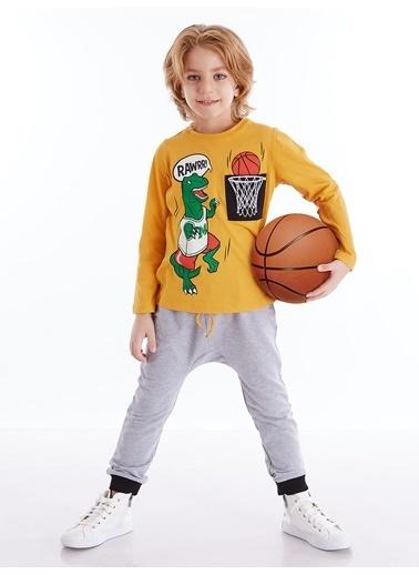Mushi Dino Basket Erkek Çocuk Baggy Takım Sarı